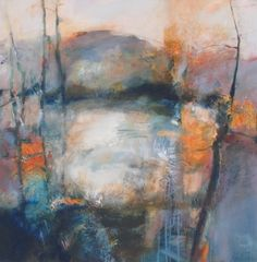 "Joan Fullerton Paintings: Contemporary Abstract Mixed Media Painting ""Findin..."