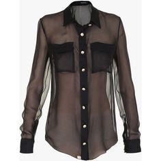 Znalezione obrazy dla zapytania black chiffon blouse