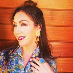 Red lips. Vintage dress. Blue ring. Vintage earrings. Styled by La Clotherie Consulting #vintage #laclotherie #consulting #stylist #makeupartist #ring #earrings #accessories #womensfashion #style #fashionblogger
