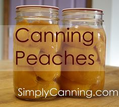 Canning Peaches the easy way. A waterbath canner gives safe fruit year round.