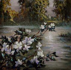 Evening rest.0il on canvas.2011 by Anatoliy Rozhansky