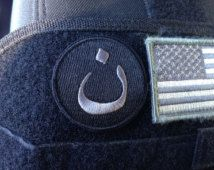 "Morale Patch - ""Christian"" 2"" N Velcro Back - Black"
