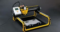 diy technology - LEGO Milling Machine Prints With Incredible Accuracy & Results 3d Printer Designs, 3d Printer Projects, Lego Projects, Robotics Projects, 3d Printing Business, 3d Printing Service, Cnc Router, Lego 3d, 3d Printing Machine