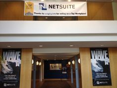 NetSuite decorates its office.