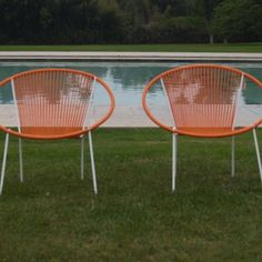 need these orange hoop chairs for our backyard.