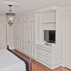 Built In Bedroom Closets | Built-in bedroom closet and entertainment unit. Clients wanted all ...