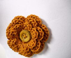 Crocheted Scarf Pin Lapel Pin Hair Clip by StitchKnit on Etsy, $5.00