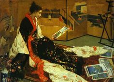 James Whistler 'Le paravent dore' 1899