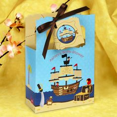 It's A Boy Mates! #Pirate Personalized Favor Boxes