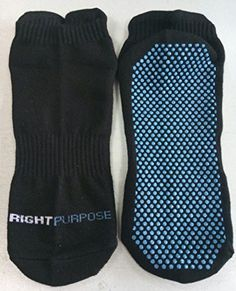 Right Purpose Bamboo Non Slip Yoga Barre and Pilates Socks for Women Black >>> Read more  at the image link.Note:It is affiliate link to Amazon.