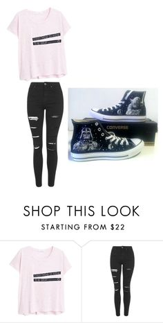"""Untitled #207"" by sierrapalmer10 on Polyvore featuring MANGO, Topshop and Converse"