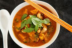 La Fuji Mama shares the Vegan PENANG CURRY from The Blender Girl Cookbook. You can also win a copy of the book. This curry is mild, super tasty, and so comforting in the cold weather.