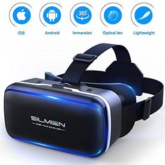SILMIEN VR Glasses Upgrade Replaceable Leather Patch Even for Near-Sighted Adjustable Pupil and Object Distance Separately Portable Virtual Reality Headset Movies and Games for iOS and Android 3d Glasses, Virtual Reality Headset, Vr Headset, Keep It Cleaner, Size 14, Ios, Helmet, Smartphone, Number