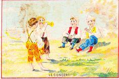 Le Concert - CHROMO ENFANT JEU VOILIER PLIAGE PAPIER CHAPEAU | par oldsailro