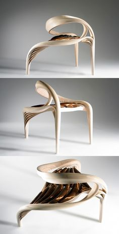 50 Stunning Sculptural Chairs That Act As Artistic Centrepieces Ever felt your interior could look more artistic? There's a piece of furniture that's as functional as it's creative – the sculptural chair. Woodworking Furniture, Art Furniture, Unique Furniture, Furniture Design, Wood Design, Modern Design, Modern Southwest Decor, Swivel Barrel Chair, Industrial Design Sketch