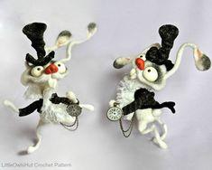 111 del ganchillo patrón  conejo blanco  archivo por LittleOwlsHut