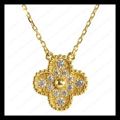Van Cleef and Arpels Vintage Alhambra Diamond Necklace  LOVE THIS!!! #inlove