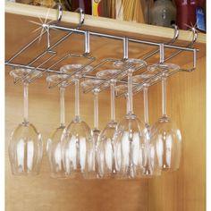 Colgador para copas interior armario: para mantener el orden y lograr espacio adicional en el armario.