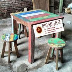 kursi Kafe Rustik Minimalis Kayu Jati Berkualitas - Singa Jati Outdoor Tables, Outdoor Decor, Outdoor Furniture, Modern, Collections, Home Decor, Trendy Tree, Decoration Home, Room Decor