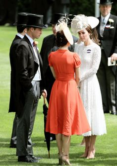 "royalsgonewild: "" ""The Duke and Duchess of Cambridge chat with Crown Princess Mary of Denmark on June 15, 2016 in Ascot, England. "" """