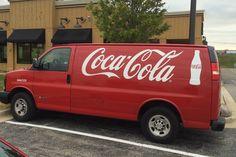 Coca Cola truck.