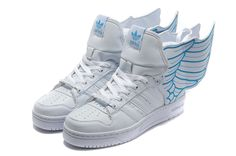 hot sale online a3c9c f8660 Latest Listing Cheap Adidas X Jeremy Scott Wings Shoes White Blue  Basketball Shoes Store