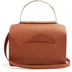 Roksanda No.1 leather shoulder bag (6.560 BRL) ❤ liked on Polyvore featuring bags, handbags, shoulder bags, tan, leather handbags, leather tote bags, leather totes, brown leather tote bag and brown leather tote