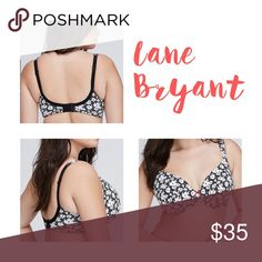 Cacique Floral Cotton Underwire Full Coverage Bra Brand new without tags. Smoke and pet free home. No trades. This bra has 4 hooks in the back. Cacique by Lane Bryant! Brand name crossed out to prevent store returns. Lane Bryant Intimates & Sleepwear Bras