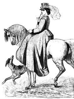 Victorian Riding Habits-Dark brown cloth