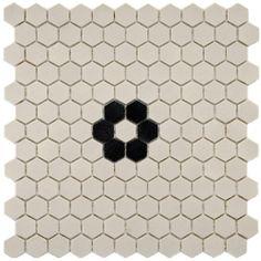 Bia banheiro casal - pastilha hexagonal