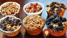 A La Graham: Individual Baked Oatmeal Cups - Clean Clean Eating 21 Day Fix Breakfast, Breakfast Recipes, Snack Recipes, Breakfast Muffins, Diet Breakfast, Diet Recipes, Healthy Recipes, Breakfast Bake, Breakfast Ideas