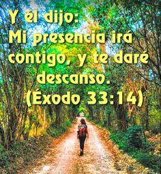 Y El dijo: Mi presencia irá contigo, y te daré descanso.  Ex 33.14