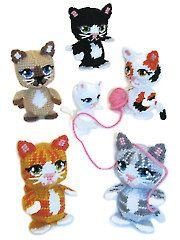 Plastic Canvas - Amigurumi Kittens - #A837596