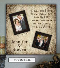 Personalized Wedding Photo Frame WIFE  by PhotoFrameKeepsakes, $75.00