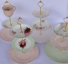 diy tiered stands made of china   DIY Kit for making your own tiered stands from china plates. Includes ...