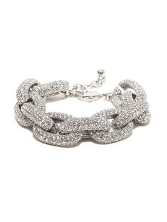 our best selling silver pave links bracelet updated for this season's silver trend!