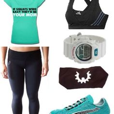 CrossFit outfit. I love the shirt. lol