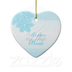 Mother Of The Bride Blue Flowers Ornament