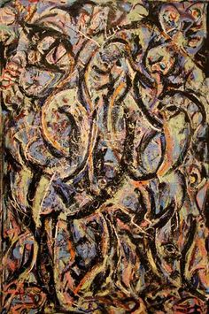 """Gothic"" by jackson Pollock is his very famous painting. Pollock told a critic that this composition was based on Pablo Picasso's 1907 masterpiece, Le Demoiselles d'Avignon. Action Painting, Drip Painting, Pablo Picasso, Tachisme, Jackson Pollock Art, Jack Pollock, Pollock Paintings, Lee Krasner, Paul Jackson"