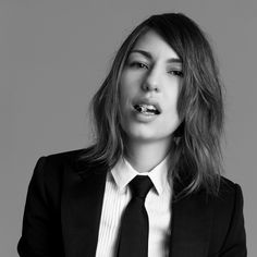 Sofia Coppola, woman's suit