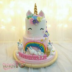 Unicorn Birthday Party.  Unicorn Birthday Cake. Unicorns.