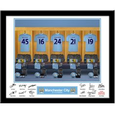 Personalised Manchester City  Dressing Room Print  from Personalised Gifts Shop - ONLY £29.95