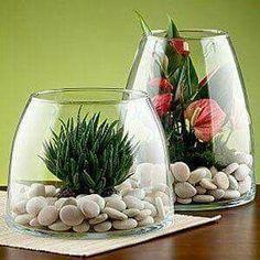 Glass Terrarium, Succulent Terrarium, Planting Succulents, Planting Flowers, Terrarium Centerpiece, Centrepieces, Glass Vase, Deco Floral, Cactus Y Suculentas