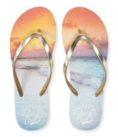 c01f3137d Aero Surf Club Sunset Flip-Flop - Aéropostale® Gold Flip Flops