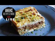 To Παστίτσιο του Άκη | LIVE | Άκης Πετρετζίκης - YouTube Lasagna, Pasta, Ethnic Recipes, Youtube, Food, Noodles, Recipies, Essen, Meals