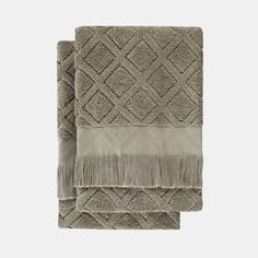 Soft Sage Green Hand Towels - Set of 2
