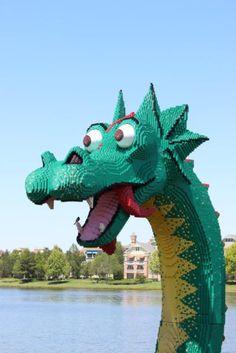 Lego creation in Downtown Disney
