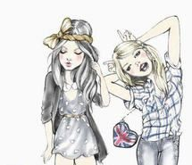 Inspiring picture cute, draw, girls, illustrated girlfriends. Resolution: 500x365. Find the picture to your taste!