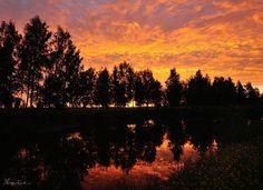 Sunrise in Kokkola at 2.50am