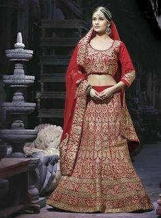Maroon Designer Bridal Lehenga Choli Online India ,Veeshack.com | Fashion for the World - 1